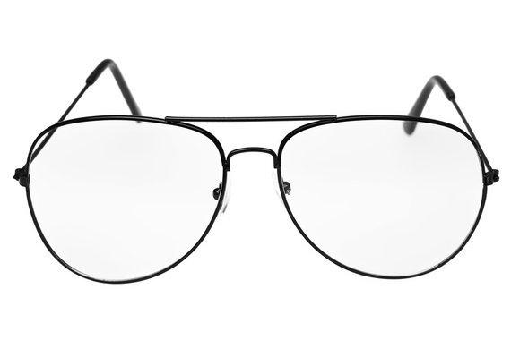 okulary przeciwsłoneczne AVIATOR ZERÓWKI  BLACK