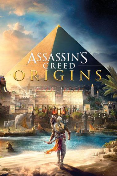 plakat ASSASSINS CREED ORIGINS - COVER