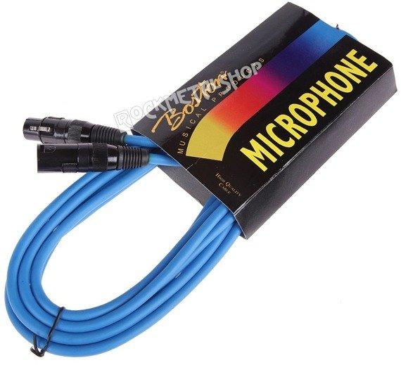 przewód mikrofonowy BOSTON BLUE: XLR żeński -  XLR męski / 5m