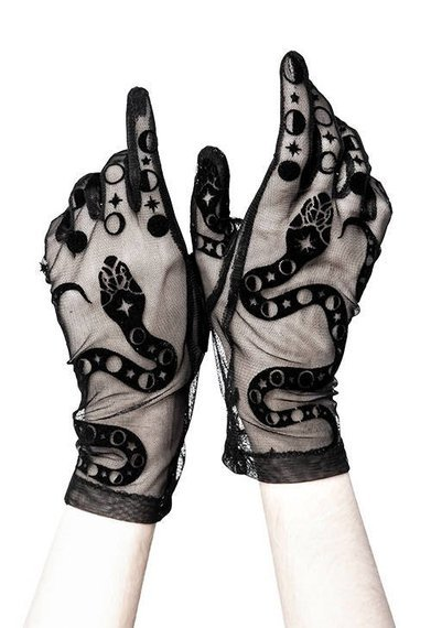 rękawiczki BLACK GOTHIS SNAKE