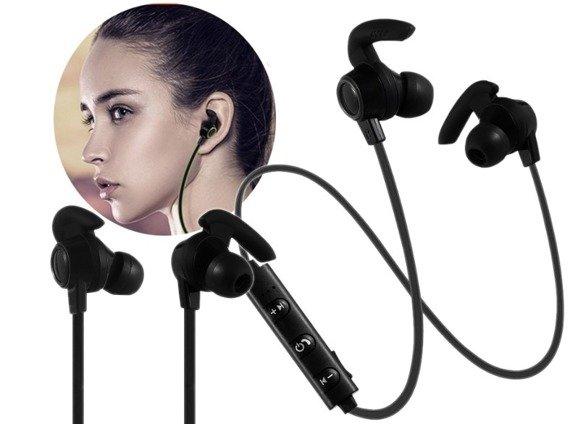 słuchawki bezprzewodowe SPORTS BLUETOOTH DOUSZNE BLACK 5.0