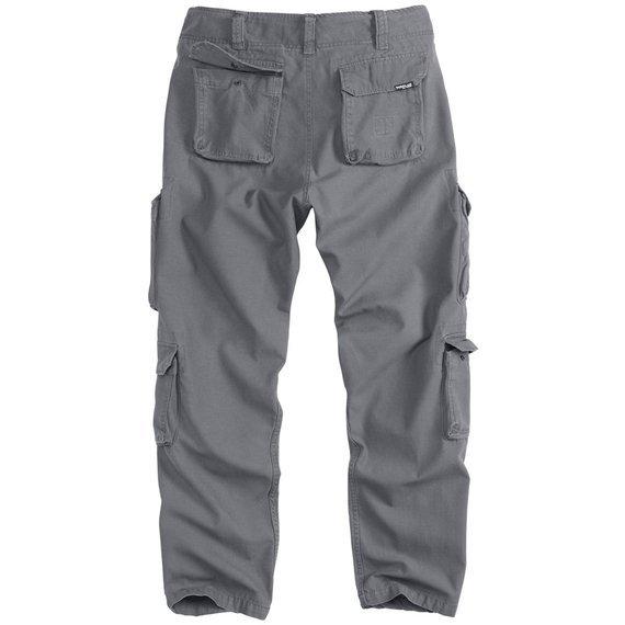 spodnie bojówki AIRBORNE VINTAGE TROUSERS SLIMMY ANTHRAZIT