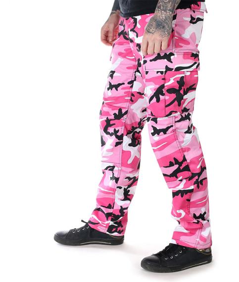 spodnie bojówki MMB US BDU HOSE PINK CAMO