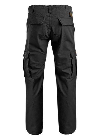 spodnie bojówki długie WEST COAST CHOPPERS - CAINE RIPSTOP CARGO PANT black