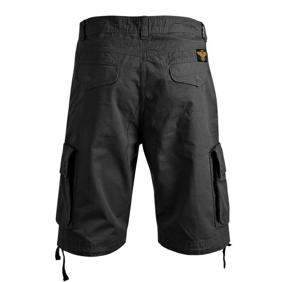 spodnie bojówki krótkie WEST COAST CHOPPERS - CAINE RIPSTOP CARGO SHORT black