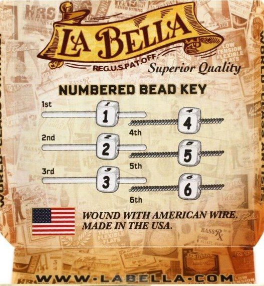 """struny do gitary klasycznej LA BELLA 2001 """"CONCERT"""" Medium Hard"""
