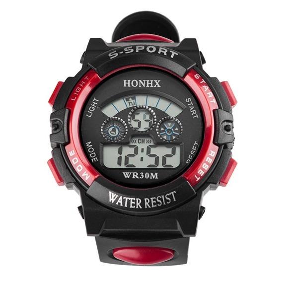 zegarek SPORT RED LED, silikonowy