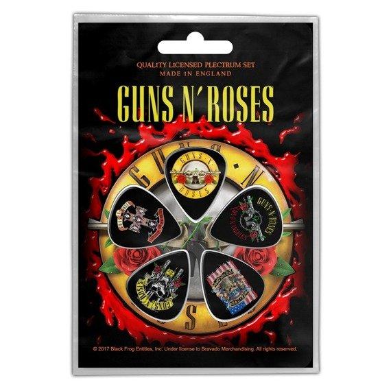 zestaw kostek GUNS N ROSES - BULLET LOGO (5 szt)
